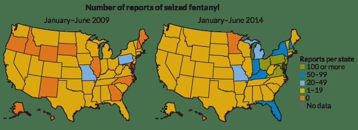Fentanyl Deaths Map