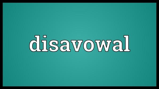 disavowal