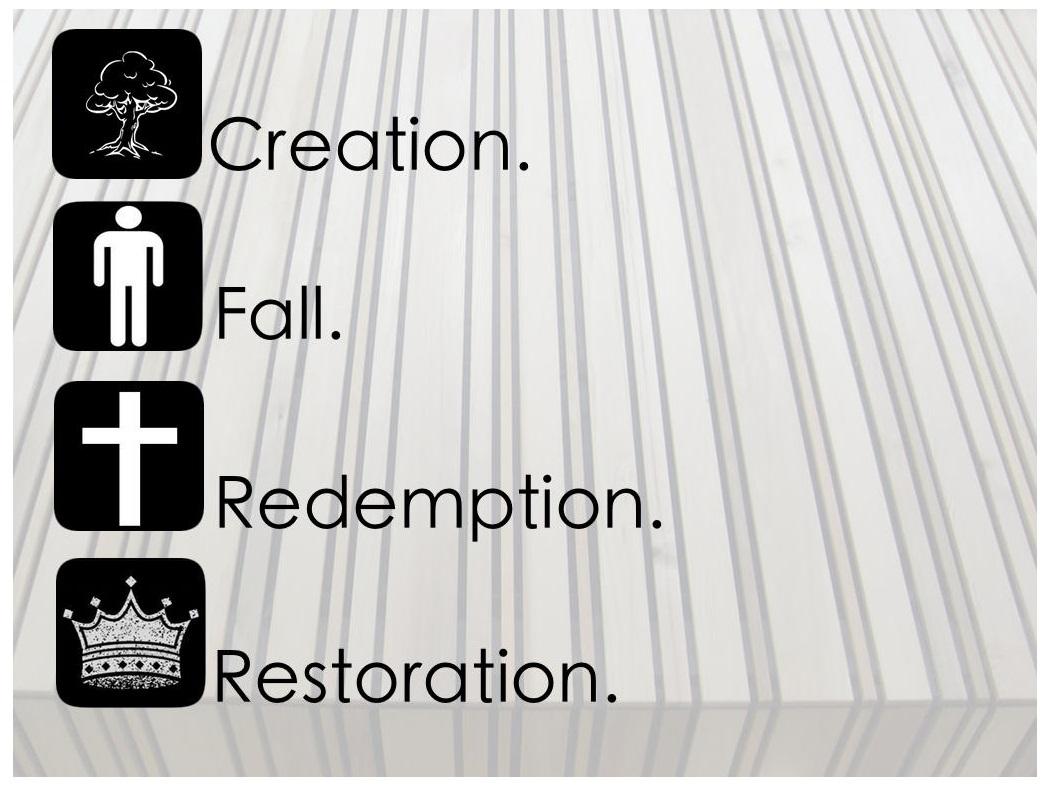 creation fall redepmtion restoration