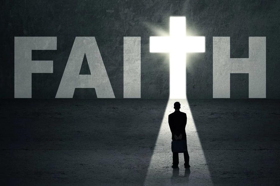 Faith Black and White Image