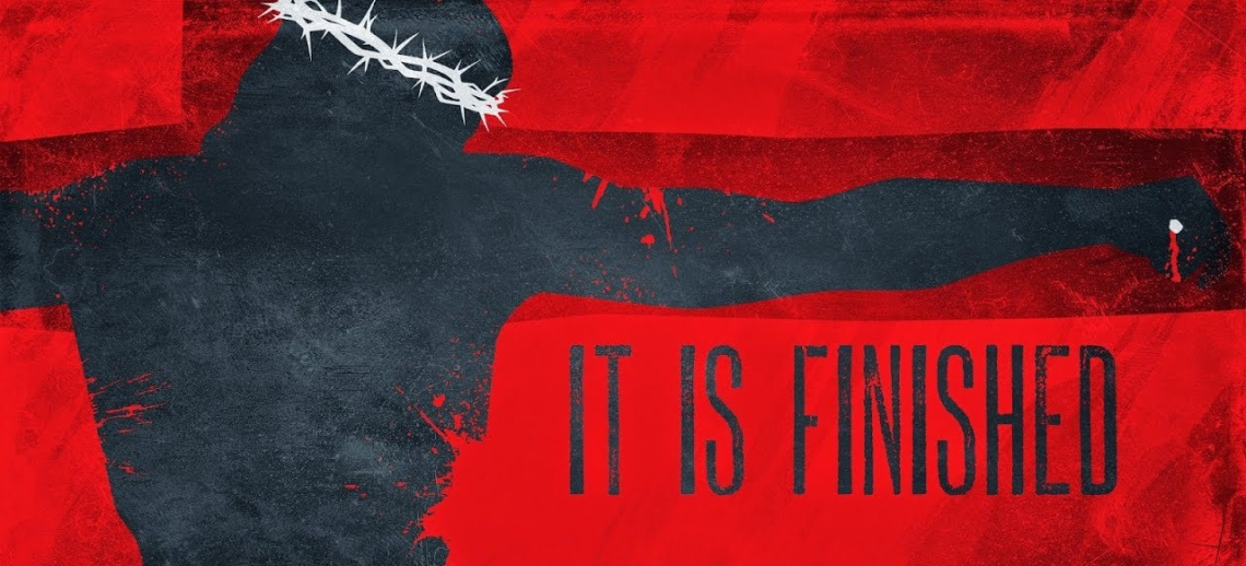 It is Finished Red Banner