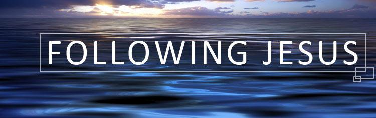 following jesus banner