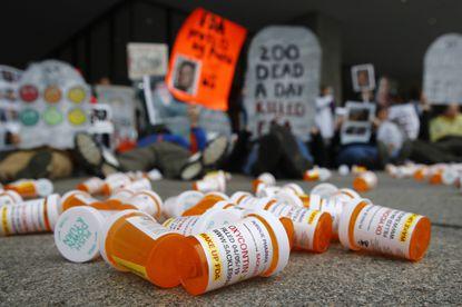 Bottles of Opiate Prescriptions