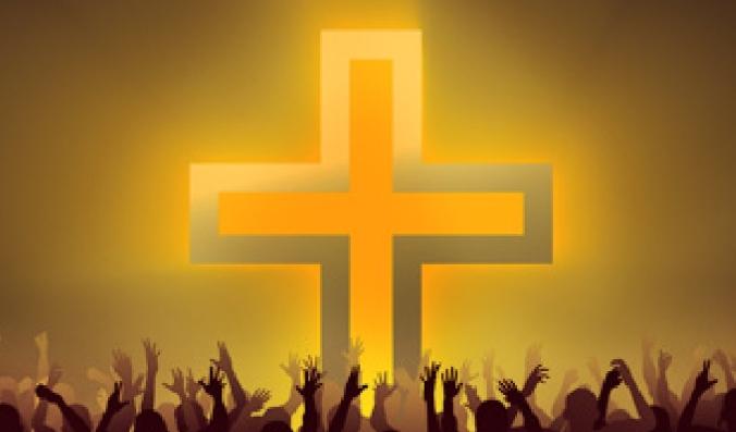 Community of Believers Hands Raised